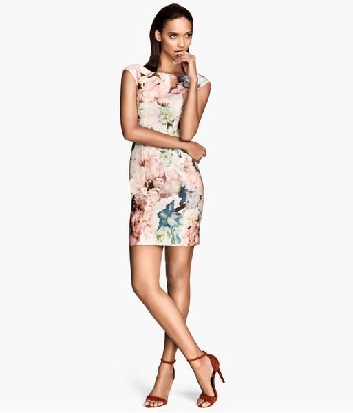 Vestito con fiori H&M