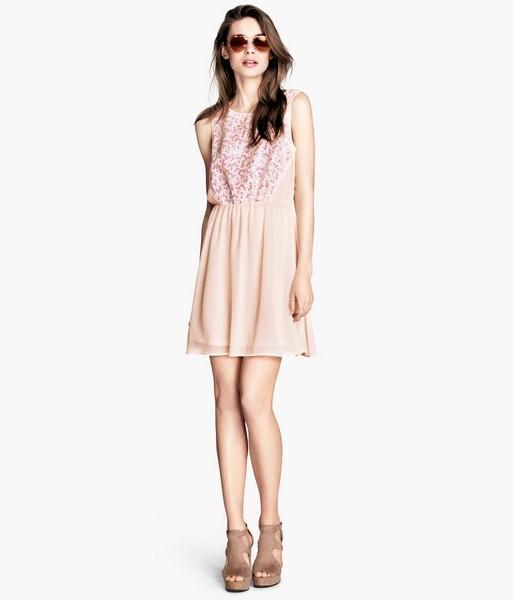 Vestito rosa pastello H&M
