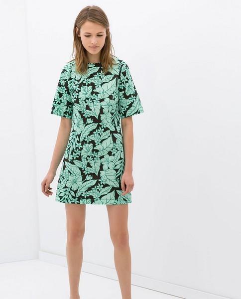 Vestito fantasia tropicale di Zara