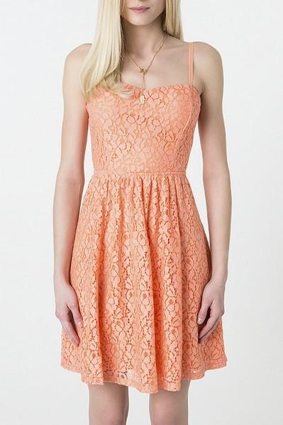 Vestito arancione in pizzo Tally Waijl