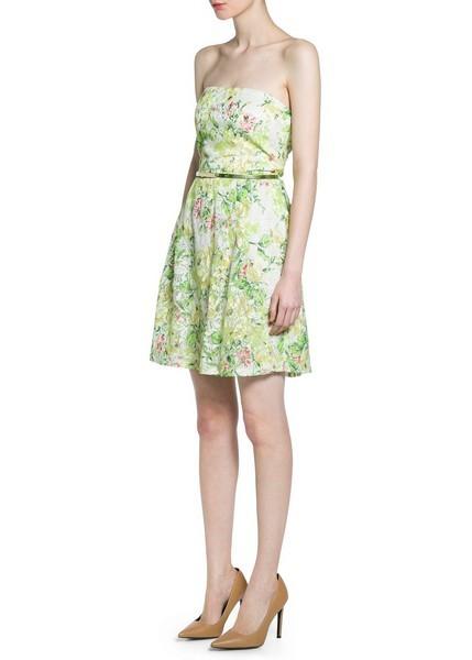 vestito floreale sulle tonalità del verde di Mango
