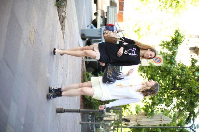 Giulia e Silvia - cardigan e sottoveste con rouches per un look pratico e easy chic