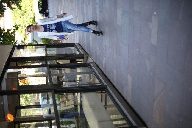 Giulia - gioco di contrasti: jeans boyfriend con cappottino bon ton