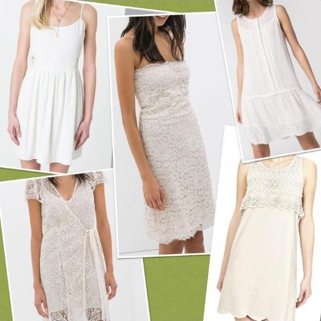 Vestiti bianchi di tendenza, per la primavera-estate 2104