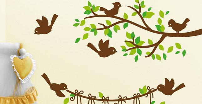 Idea decorazione parete Birdy by Stikid