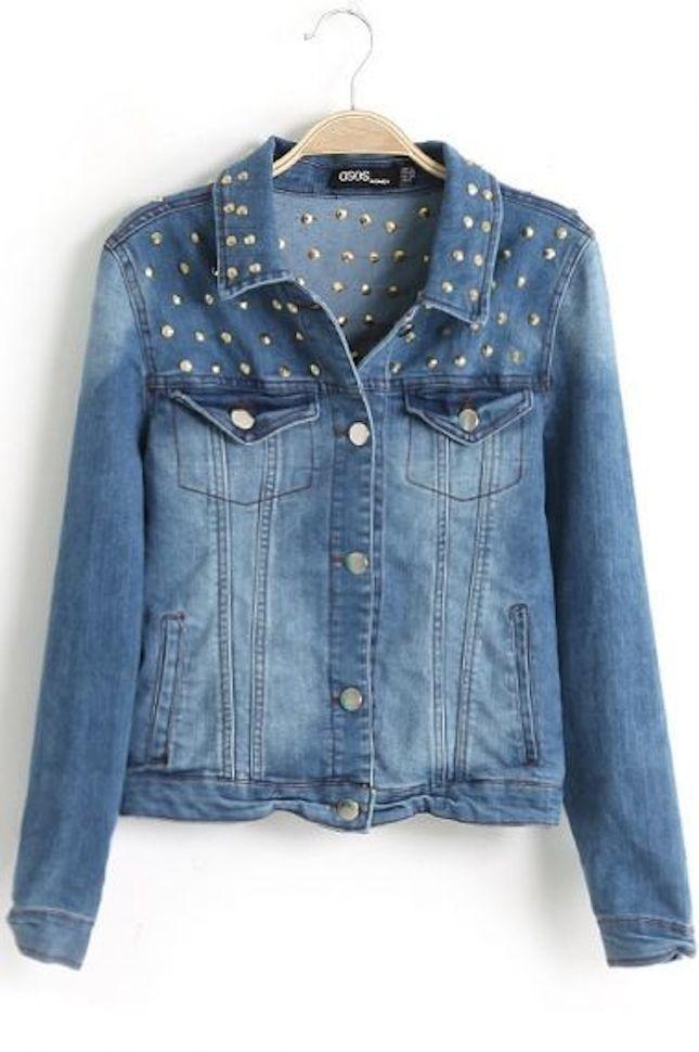 Giacca di jeans con borchie_Asos