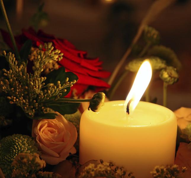 candele e fiori