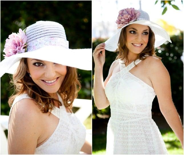 cappellino sposa country con fiore foto by bridechic