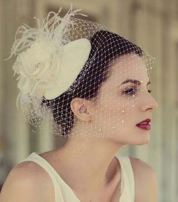 cappello con veletta e fiore foto by cakechooser