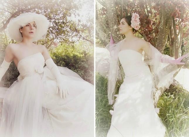 cappello sposa e acconciatura con fiori foto by bridechic