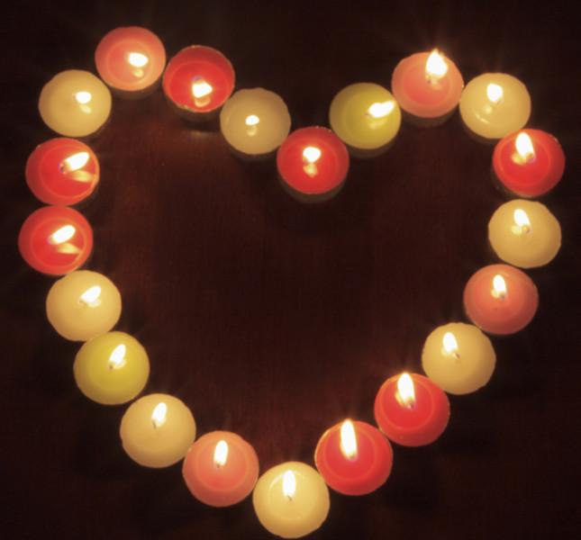 cuore di candele
