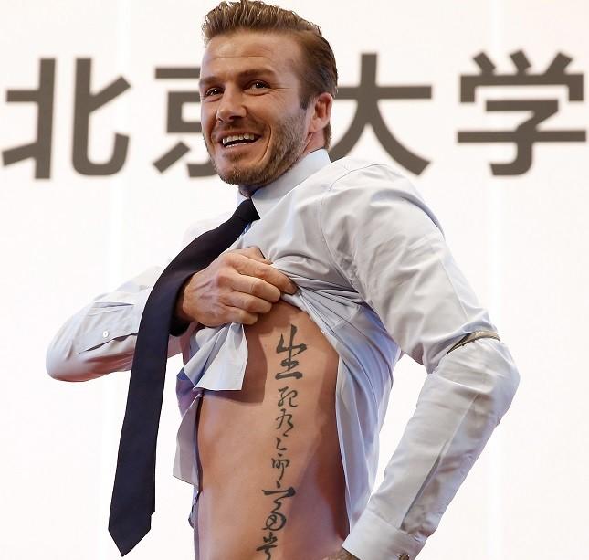David Beckham alla Peking University in Cina