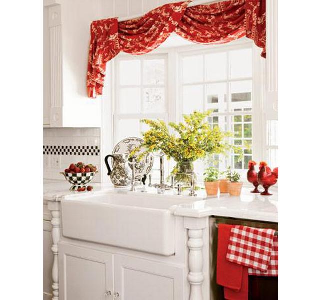 Tende da cucina rosse / Giesel design