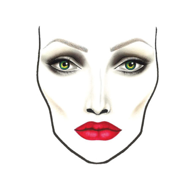 Il trucco realizzato da Mac per Angelina Jolie alias Malefica