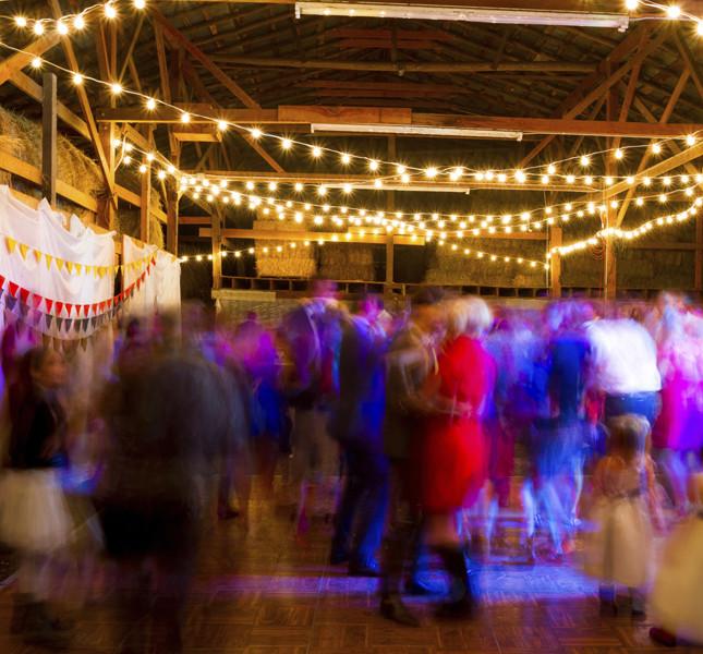 Nozze d'argento? Festeggiate! e adornate la pista da ballo con fili di lucciole! e via con le danze!