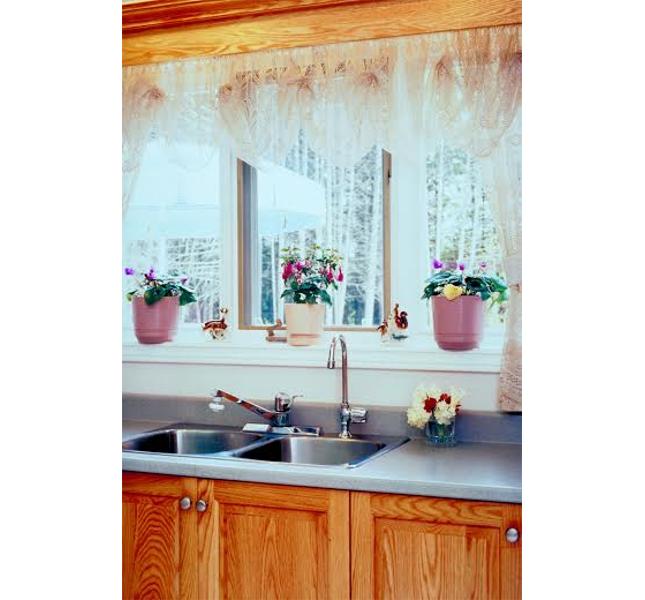 Tende da cucina: ricami