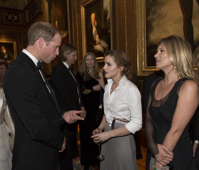 Emma Watson insieme a William Duca di Cambridge