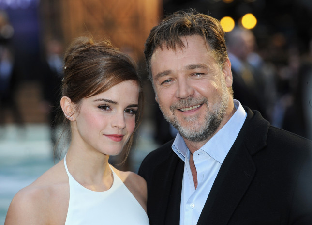 Emma con Russell Crowe