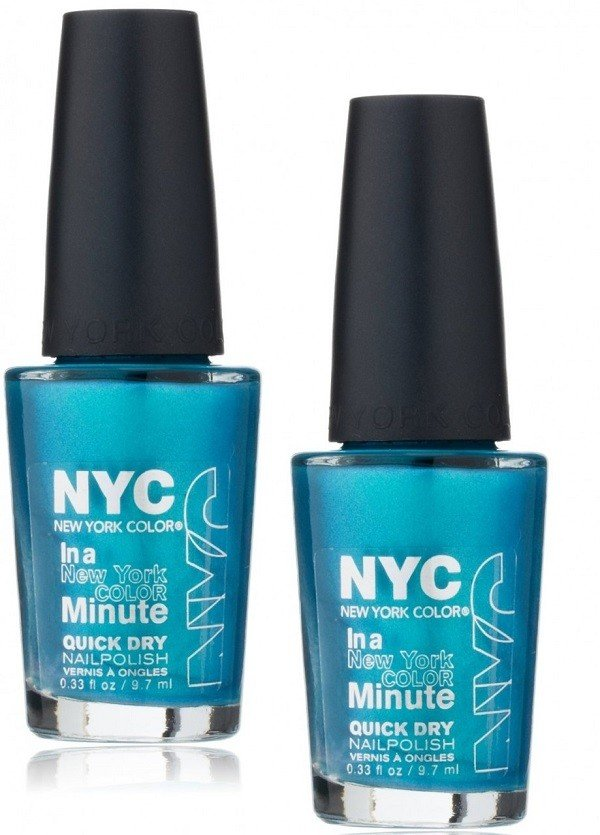 NYC In a Minute azzurro metallizzato