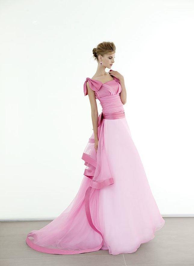 Elisabetta Polignano_abito da sposa sulle tonalità del rosa