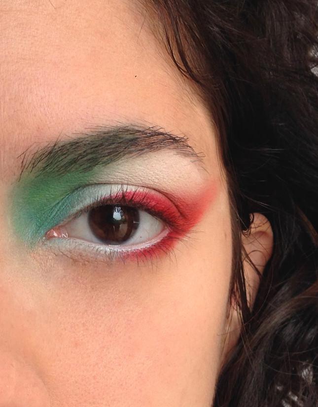 trucco nella parte inferiore dell'occhio