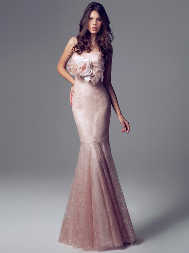 Abito da sposa Blumarine rosa sfumato