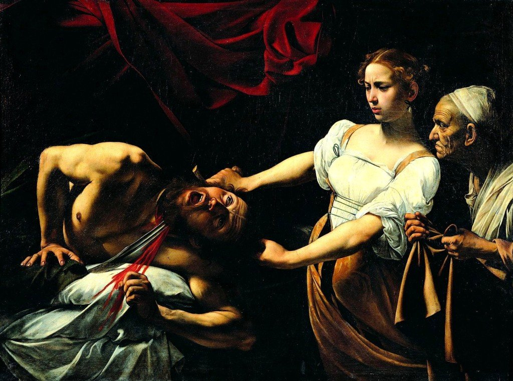Caravaggio, Giuditta che taglia la testa a Oloferne (1598-1599)
