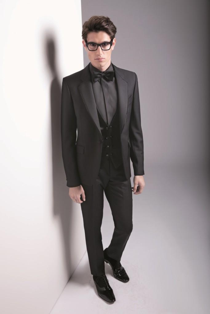Look total black per Carlo Pignatelli, collezione primavera-estate 2015