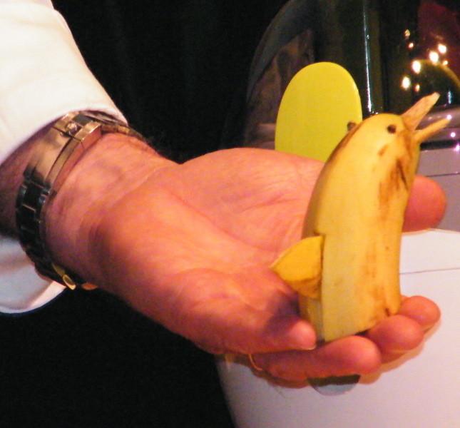 Delfino fatto con banana
