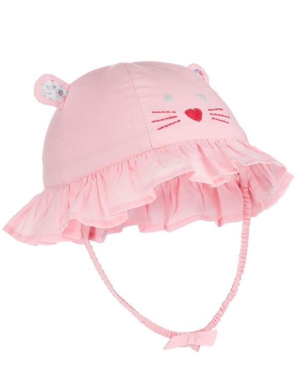 Cappellino rosa da spiaggia per neonate