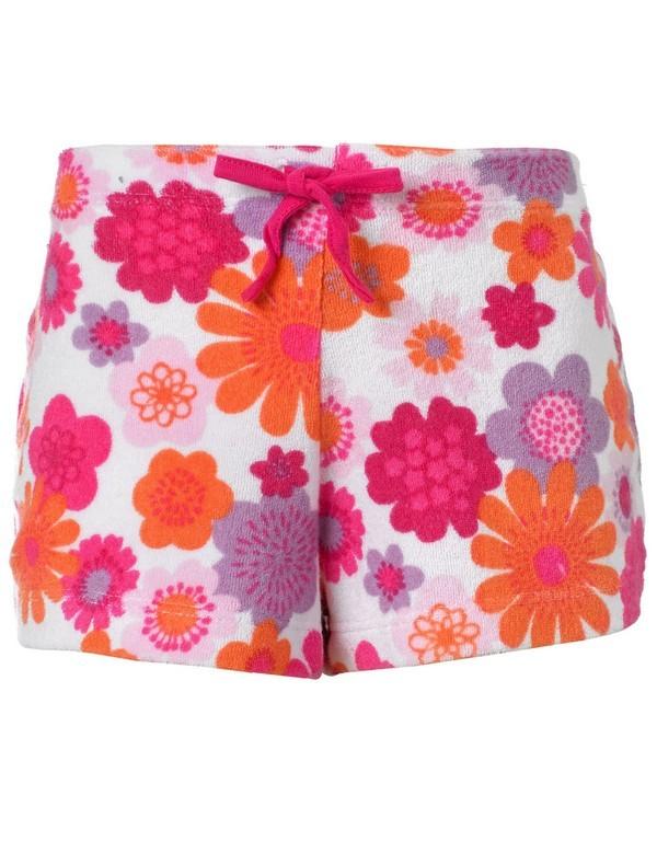 Shorts floreali da spiaggia per bambine