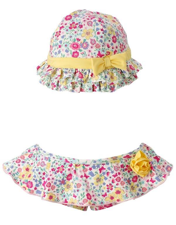 Slip da mara con cappellino coordinato per neonate