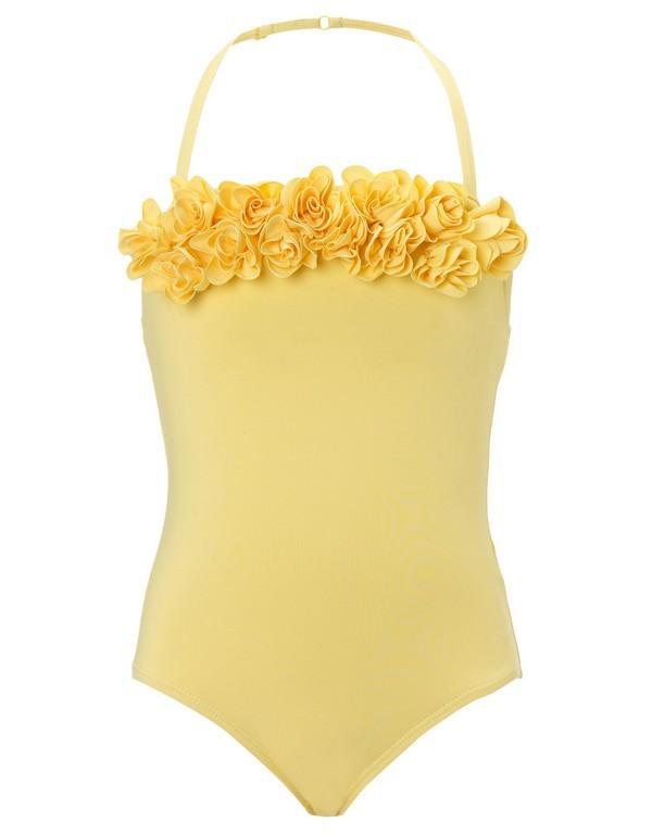 Costume intero giallo per bambina