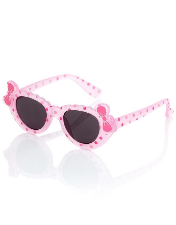 Occhiali da sole rosa con applicazioni, per bimbe