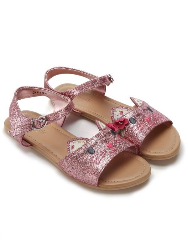 Sandali con glitter rosa, per bimbe