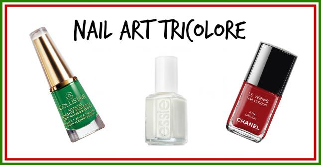 nail art tricolore per i Mondiali di Calcio 2014