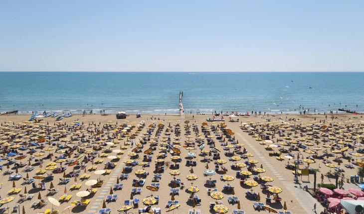 Le spiagge di Rimini