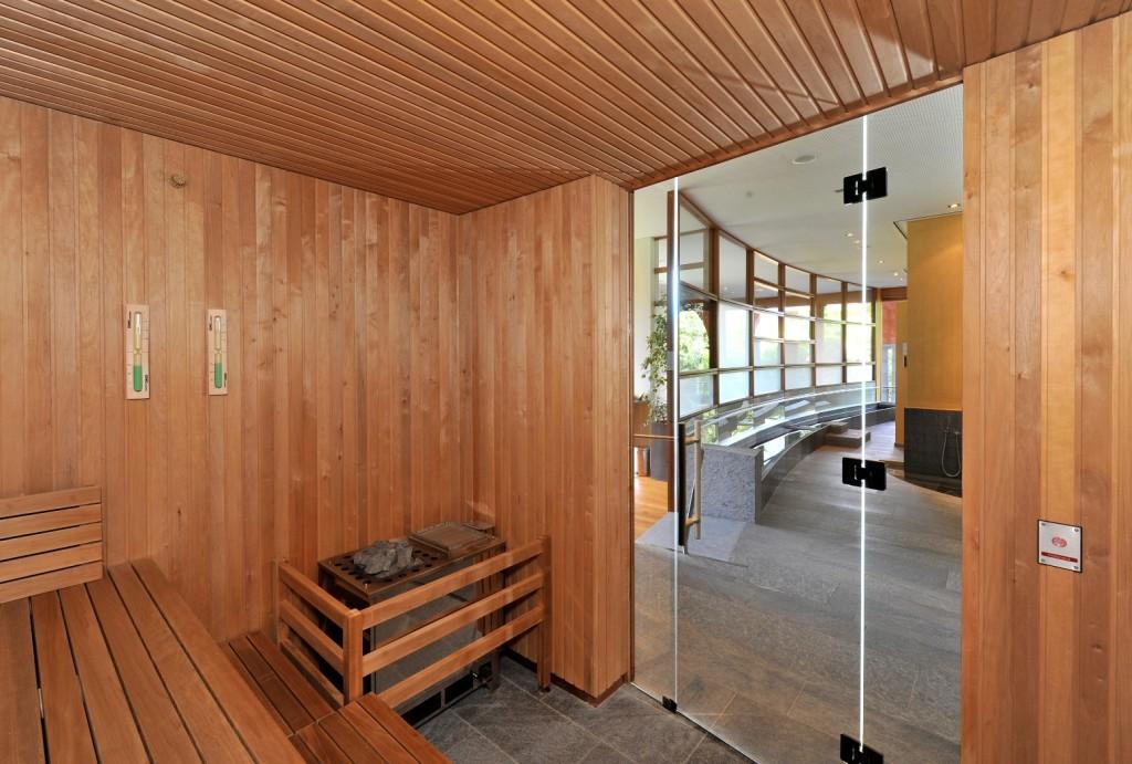 La sauna all'interno della Spa