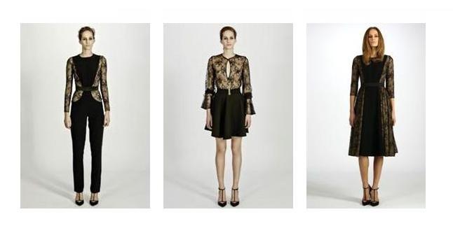 Tuta elegante, blusa trasparente e abito con gonna a ruota, per la collezione autunno-inverno di Uel Camilo