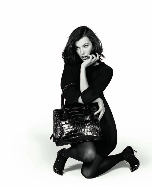 Milla Jovovich testimonial del brad Marella e volto della casule collection ART.365