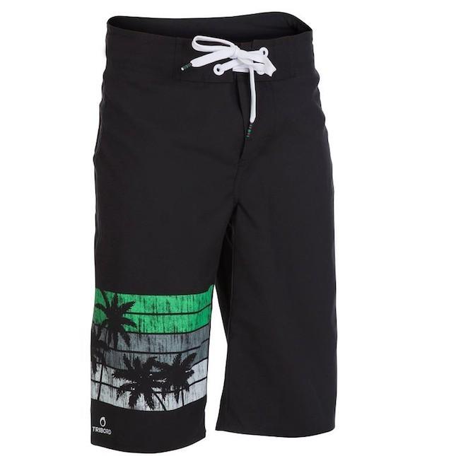 Boxer bambino lunghi a tinta unica con logo e fantasia sulla gamba destra