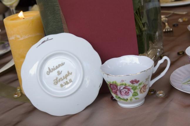 Una tazzina da tè in porcellana come bomboniera