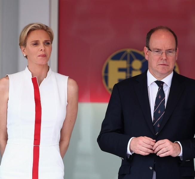 La principessa Charlene e il principe Alberto al F1 Grand Prix of Monaco