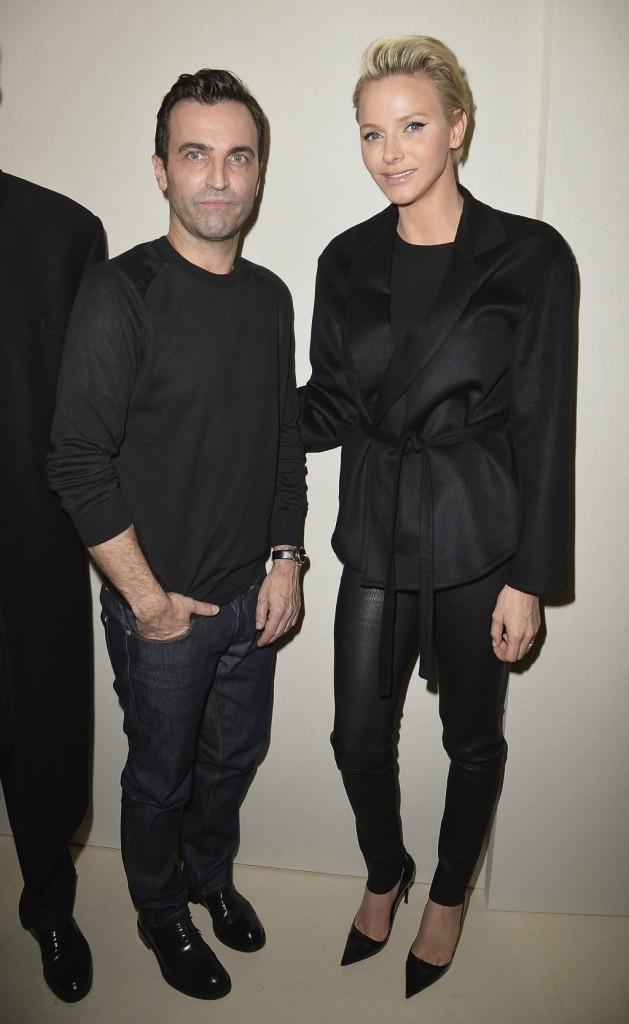 Charlene insieme a Nicolas Ghesquiere, direttore creativo per Louis Vuitton