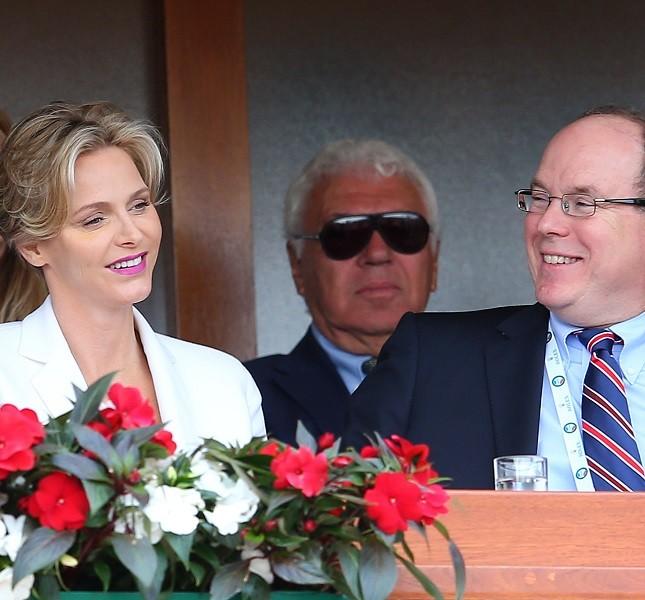 Charlene e Alberto agli ATP Monte Carlo Rolex Masters di tennis