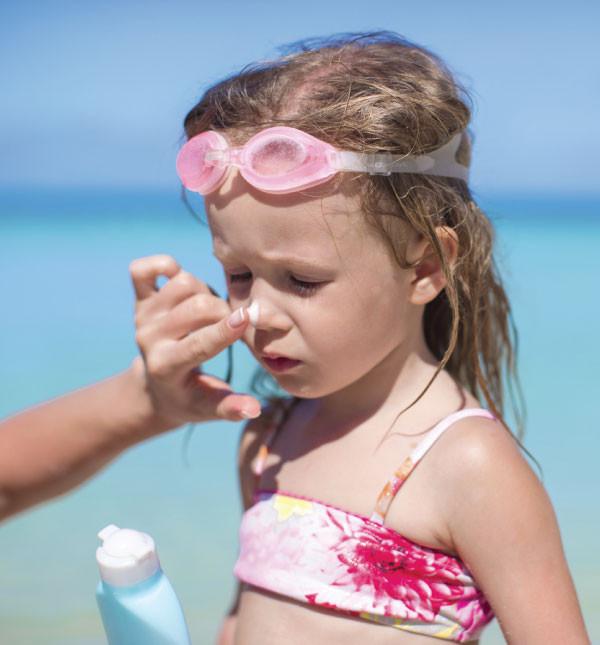 Crema solare con SPF50 per pelli delicate