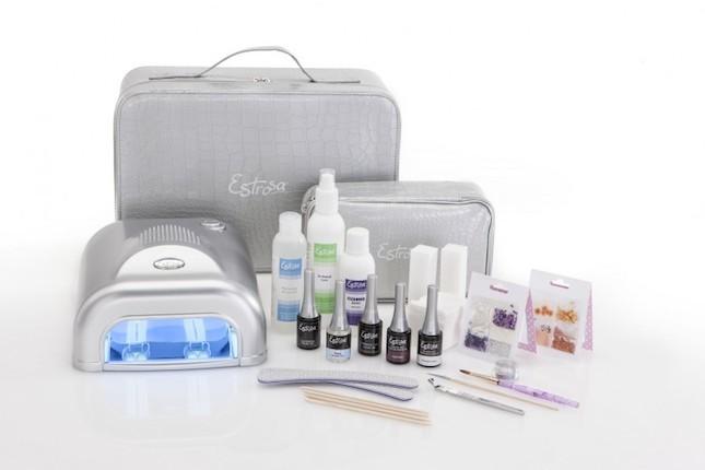 Kit Estrosa con prodotti e lampada per applicazione smalto semipermanente