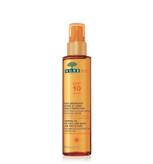 Olio Abbronzante Viso e Corpo Bassa Protezione SPF 10