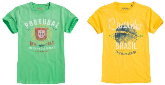 Pepe Jeans London t-shirt junior, Mondiali di calcio Brasile 2014