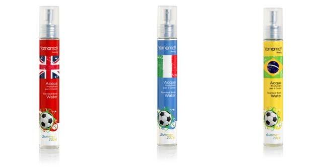Yamamay propone delle fresche fragranze dedicate a 3 delle squadre protagoniste dei Mondiali di calcio Brasile 2014